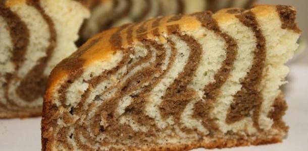 Торт зебра на кефире фото