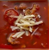 Kremalı Mantarlı Domates Çorbası Tarifi